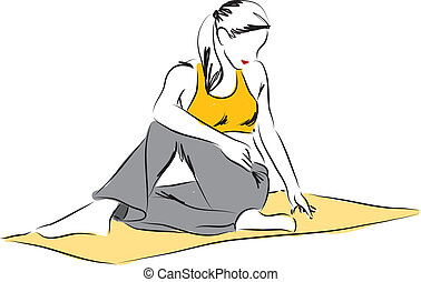 yoga posture illustration 2