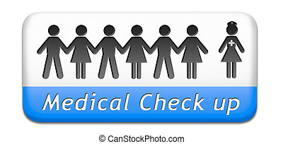 médico, salud, cheque, Arriba