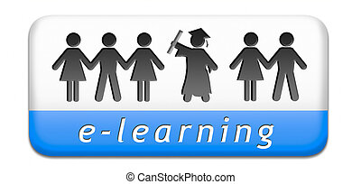 e-learning online internet learning in open school or...