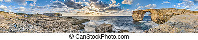 Azure Window in Gozo Island, Malta - Azure Window natural...