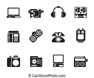 electronics and media icons