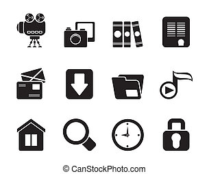 Computer and website icons - Silhouette Computer and website...