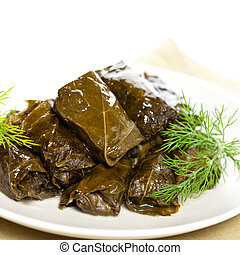 Stuffed Grape Leaves - Dolma or Stuffed Grape Leaves,...