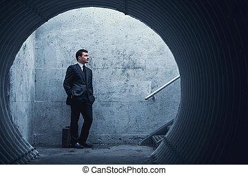 paciencia, virtue…, hombre de negocios, esperar,...