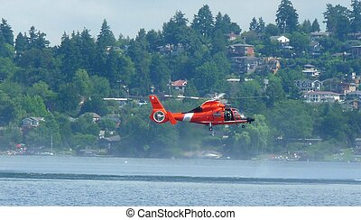 Coast Guard Helicopter, Seattle, WA - Coast Guard...