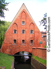Watermill on the Old Town Gdansk Poland
