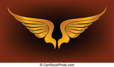 Gold Wings Vector