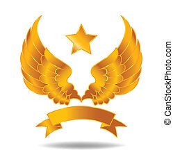 Gold Wings Symbol