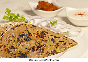 Hot delicious paratha with ghee - Hot delicious paratha with...
