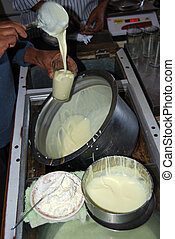 Traditional Indian Lassi - Lassi is made by blending yogurt...