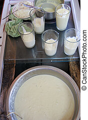 Traditional Indian Lassi - Lassi is made by blending yogurt...