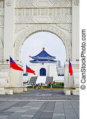 Front gate of Chiang Kai Shek (CKS) memorial hall in Taipei...