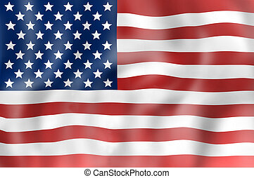 United States flag realisitic design