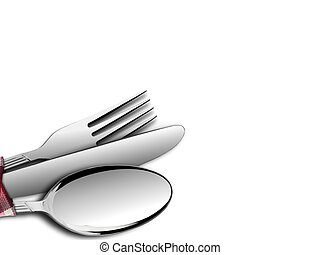 Fork and Spoon with Knife