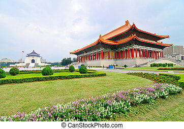 National Theater Hall of Taiwan by the main gate on the...