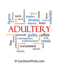 Adultery Word Cloud Concept with great terms such as sexual,...