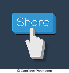 Share Button with Hand Shaped Cursor