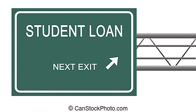 Road sign to student loan