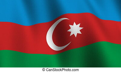 Flag of Azerbaijan, seamless loop - Flag of Azerbaijan...