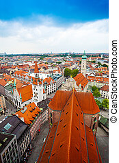 Panorama of Munich, Bavaria, Germany - city centre view of...