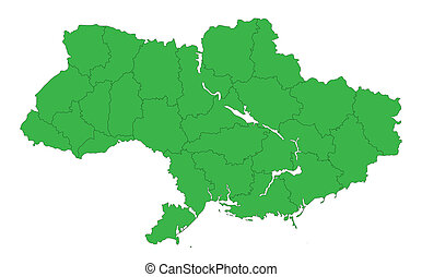 contour map of Ukraine without the Crimea - The new contour...