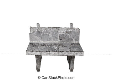 chair old - Cement gray old chair isolated on white...