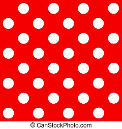 White Polka Dot on red background