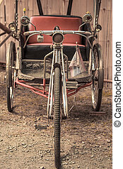 Old bike and tricycle thailand