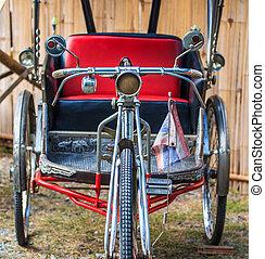 tailandia, bicicleta, antigas, triciclo