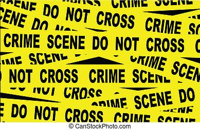 Crime Scene Tape - A typical CRIME SCENE DO NOT CROSS...
