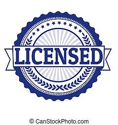 Licensed stamp - Licensed grunge rubber stamp on white,...