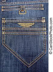 big back pocket on jeans