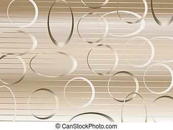 Pattern of circles and ovals. - Other location of the circle...