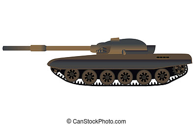 Russian tank T-72 side view
