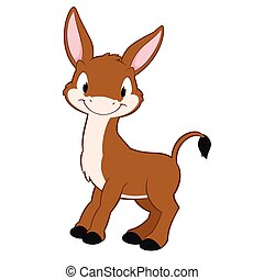 Cartoon Donkey - Cartoon donkey. Isolated objects for design...