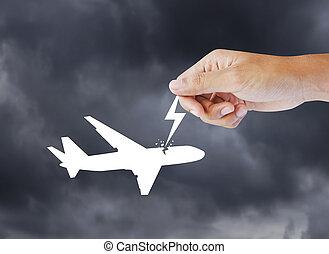 Passenger air plane crash, hijack