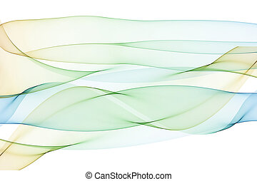 Abstract spiral pattern of intertwined translucent flowing...