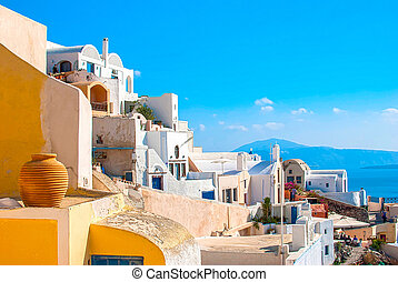 Santorini Greece - Oia Santorini Greece famous with romantic...