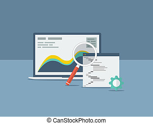 Flat search engine optimization design concept vector