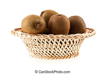 kiwis are isolated a white background