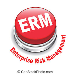 3d illustration of erm enterprise risk management button...