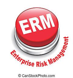 3d illustration of erm enterprise risk management button...