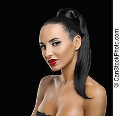 Fashion Woman Profile Portrait
