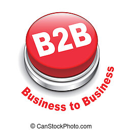 3d illustration of b2b business to business button isolated...