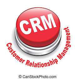 3d illustration of crm (Customer Relationship Management)...