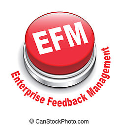 3d illustration of efm enterprise feedback management button...