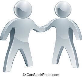Shaking hands silver poeple - A pair of shaking hands silver...