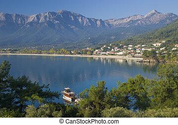 Paradise - Beautiful morning at the bay of Skala Potamia at...