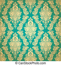 Beautiful seamless wallpaper - Damask floral seamless...