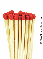 Matches - Match sticks isolated against a white background